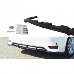 CENTRAL REAR SPLITTER Lexus CT Mk1 Facelift (with vertical bars) Carbon Look