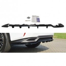 CENTRAL REAR SPLITTER Lexus RX Mk4 H (with vertical bars) Carbon Look