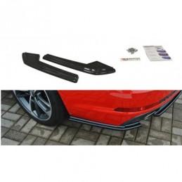 REAR SIDE SPLITTERS Audi A4 B9 S-Line Carbon Look