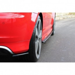 REAR SIDE SPLITTERS Audi RS3 8P Textured