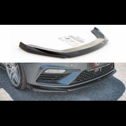 Front Splitter V.5 Seat Leon Cupra / FR Mk3 FL Gloss Black
