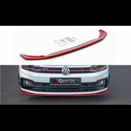 FRONT SPLITTER V.2 VW POLO MK6 GTI RED