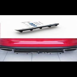Central Rear Splitter (with vertical bars) Skoda Kodiaq RS Gloss Black