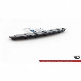 CENTRAL REAR SPLITTER AUDI A6 C7 S-LINE AVANT EXHAUST 2x1 (with vertical bars) Textured