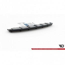 CENTRAL REAR SPLITTER AUDI A6 C7 S-LINE AVANT EXHAUST 2x1 (with vertical bars) Gloss Black