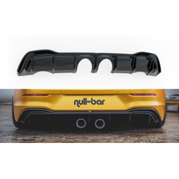 Rear Valance (R32 LOOK) with Exhaust VW Golf 8 Gloss Black