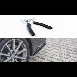 Rear Side Splitters Audi S6 / A6 S-Line C7 FL Gloss Black