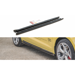 Side Skirts Diffusers Audi A1 S-Line GB Gloss Black