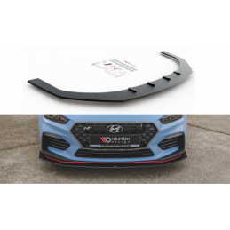 Racing Durability Front Splitter Hyundai I30 N Mk3 Hatchback / Fastback Black