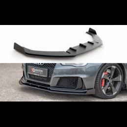 Racing Durability Front Splitter + Flaps Audi RS3 8V Sportback Black + Gloss Flaps