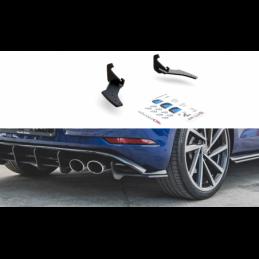 Racing Durability Rear Side Splitters VW Golf 7 R Facelift Black-Red