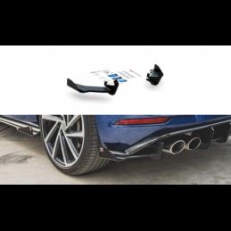 Racing Durability Rear Side Splitters + Flaps VW Golf 7 R Facelift Black + Gloss Flaps
