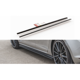 Racing Durability Side Skirts Diffusers VW Golf 7 GTI Red