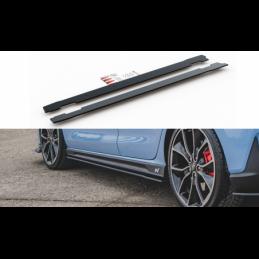 Racing Durability Side Skirts Diffusers Hyundai I30 N Mk3 Hatchback / Fastback Black