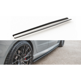 Racing Durability Side Skirts Diffusers Audi RS3 8V Sportback Black-Red