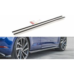 Racing Durability Side Skirts Diffusers VW Golf 7 R Facelift Black