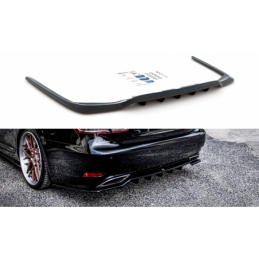 Central Rear Splitter (with vertical bars) Leuxs LS Mk4 Facelift Gloss Black