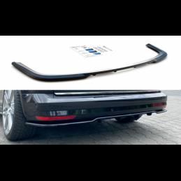 Central Rear Splitter (with vertical bars) Volkswagen Caddy Mk. 4 Gloss Black