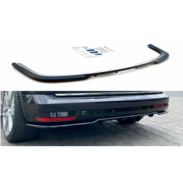 Central Rear Splitter (with vertical bars) Volkswagen Caddy Mk. 4 Carbon Look