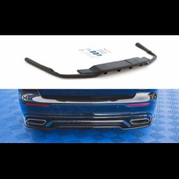 Central Rear Splitter (with vertical bars) Volvo S60 R-Design Mk3 Gloss Black
