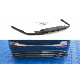 Central Rear Splitter (with vertical bars) Volvo S60 R-Design Mk3 Carbon Look