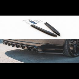 Rear Side Splitters V.2 Audi S8 D4 Facelift Gloss Black