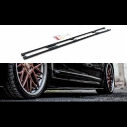 Side Skirts Diffusers Lexus LS Long Wheelbase Mk4 Facelift Gloss Black