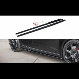 Side Skirts Diffusers V.2 Audi RS3 8V Sportback Facelift Gloss Black