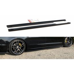 Side Skirts Diffusers Audi A8 Long D4 Gloss Black