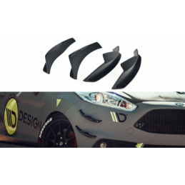Front Bumper Wings (Canards) Ford Fiesta 7 ST Facelift