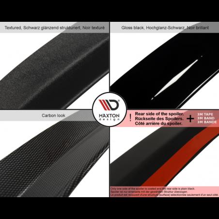 SPOILER EXTENSION FIAT 500 ABARTH MK1 Textured