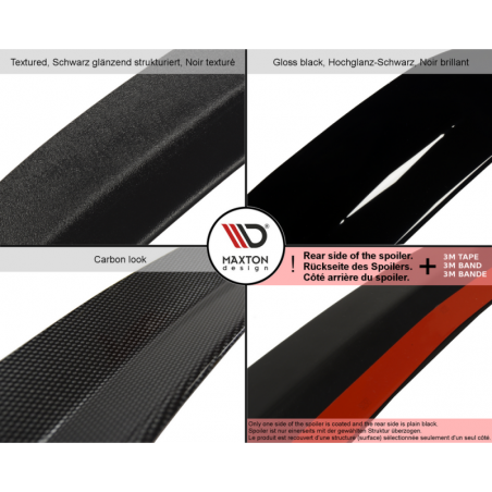 SPOILER EXTENSION Mercedes A45 AMG W176 Carbon Look