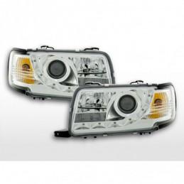 Phare Daylight LED DRL look Audi 80 type B4 91-94 chrome, 80