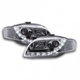 Phare Daylight LED feux de jour Audi A4 type 8E 04-08 chrome, A4 B7 04-08
