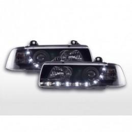 Phare Daylight LED DRL look BMW Série 3 Coupé, Cabrio type E36 92-98 noir, Serie 3 E36 Coupé/Cab