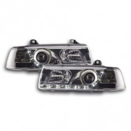 Phare Daylight LED DRL look BMW 3er Limo type E36 92-98 chrome, Serie 3 E36 Berline/Compact