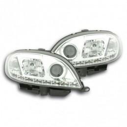 Phare Daylight LED DRL look Citroen Saxo 00-02 chrome, Saxo