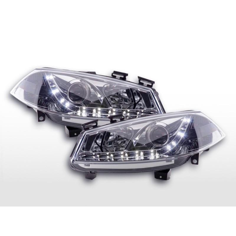 Phare Daylight LED DRL look Ford Fiesta type MK6 03-07 chrome, Fiesta