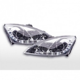 Phare Daylight à LED DRL look Ford Focus 3/4/5 portes. 01-04 chromé, Focus I 98-05