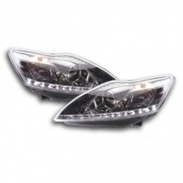 Phare Daylight à LED DRL look Ford Focus 3/5 portes. 08- chromé, Focus II 04-10
