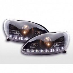 Phare Daylight LED DRL look Mercedes Classe S type W220 98-05 noir,  Classe S W220