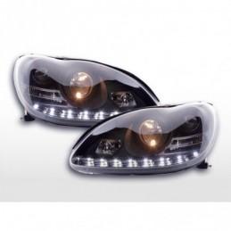 Phare Daylight LED DRL look Mercedes Classe S W220 02-05 noir,  Classe S W220