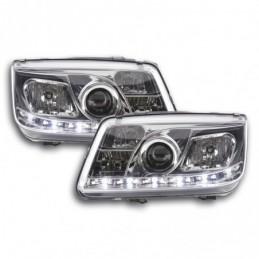 Phare Daylight LED DRL look VW Bora type 1J 99-04 chrome, Bora