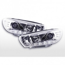 Phare Daylight LED DRL look VW Scirocco 3 Type 13 08- chromé, Scirocco