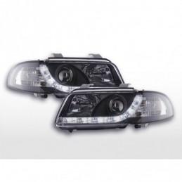 Phares Daylight LED Feux de jour LED Audi A4 B5 8D 94-99 noir, A4 B5 94-01