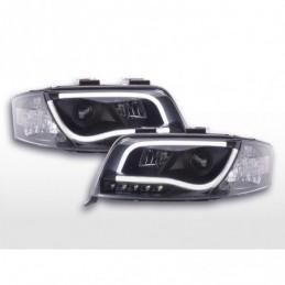 Phare Daylight LED DRL look Audi A6 type 4B 01-04 noir, A6 4B C5 97-04