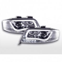 Phare Daylight LED feux de jour Audi A6 type 4B 01-04 chrome, A6 4B C5 97-04