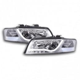 Phare Daylight à LED DRL look Audi A4 type 8E 01-04 chromé pour conduite à droite, A4 B6 00-05