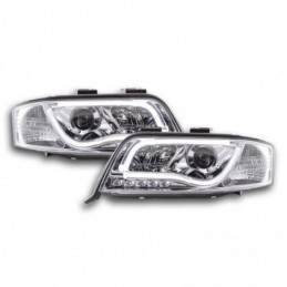 Phare Daylight à LED DRL look Audi A6 type 4B 01-04 chromé pour conduite à droite, A6 4B C5 97-04