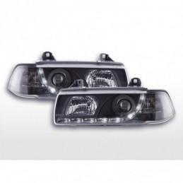 Phare Daylight LED Feux de jour à LED BMW Série 3 E36 Coupé 92-99 noir, Serie 3 E36 Coupé/Cab